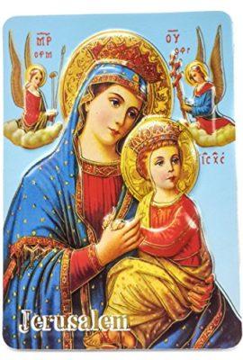 Orthodox-Virgin-Mary-and-Baby-Jesus-Jerusalem-2D-Icon-Magnet-Keepsake-39-0