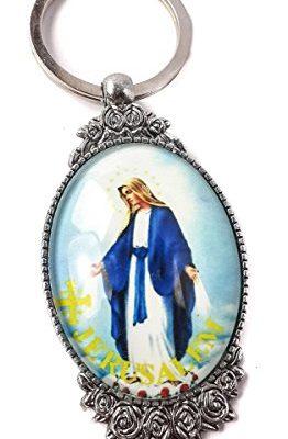 Our-Lady-of-Grace-Unique-Keychain-Catholic-Key-Ring-Jerusalem-Charm-Holder-0
