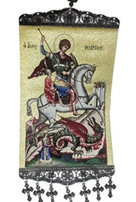 Saint-George-Hanging-Wall-Tapestry-Icon-Textile-Banner-Holy-Land-XL-156-0
