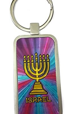 Temple-Menora-7-Branches-Menorah-Charm-Keychain-Ring-Holder-Holy-Land-Israel-0