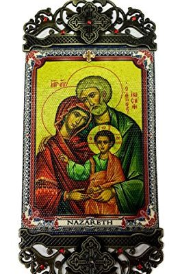 The-Holy-Family-Wall-Hanging-Tapestry-Icon-Banner-Zircon-Crystals-Jerusalem-0