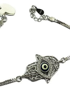 Unique-12-Hamsa-Evil-Eye-Bracelet-925-Sterling-Silver-Cubic-Zirconia-Crystals-0