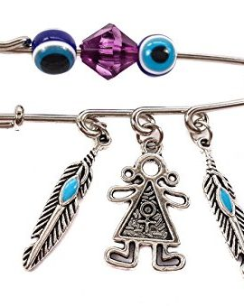 Unique-Silver-Plated-Charm-Pin-Stroller-Baby-Girl-Evil-Eye-Protection-Beads-0