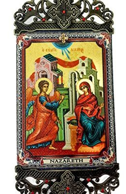 Virgin-Mary-Annunciation-Wall-Hanging-Tapestry-Icon-Banner-Zircons-Jerusalem-0