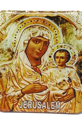 Virgin-Mary-Baby-Jesus-Magntic-Icon-Picture-Jerusalem-Keepsake-Holy-Land-26-0