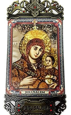 Virgin-Mary-Of-Bethlehem-Wall-Hanging-Tapestry-Icon-Banner-Zircons-Holy-Land-0