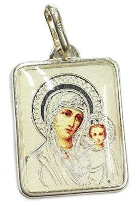Virgin-Mary-Of-Jerusalem-With-Baby-Jesus-Silver-925-Pendant-Jerusalem-Amulet-0