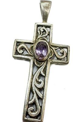 Amethyst-Crystal-Crucifix-Sterling-Silver-925-Crystal-Cross-Handmade-Jerusalem-0
