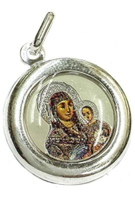 Round-Virgin-Mary-and-Baby-Jesus-Pendant-Silver-925-Bethlehem-Amulet-Holy-Land-0