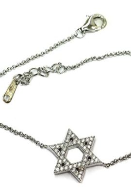 Star-Of-David-Bracelet-925-Sterling-Silver-With-Cubic-Zirconia-Crystals-Israel-0