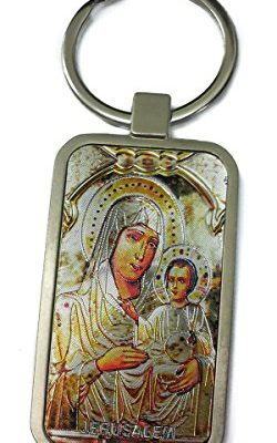 Virgin-Mary-Of-Jerusalem-and-Baby-Jesus-Keychain-Christian-Holder-Ring-Holy-Land-0