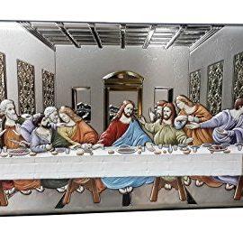 Da-Vinci-Portrayal-Silver-950-Icon-Last-Supper-Wall-Plaque-Jesus-Betrayal-22-0