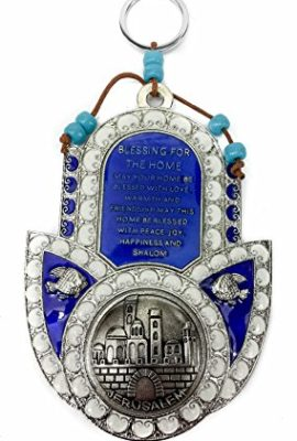 Hamsa-Hand-Home-Blessing-Peace-Hanging-Metal-Enamel-Plaque-Jerusalem-55-0