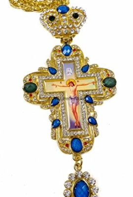 Pectoral-Cross-Blue-Zircons-Crystallized-Elements-Christian-Priest-Crucifix-22-0