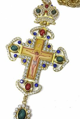 Pectoral-Cross-Colorful-Zircons-Crystallized-Elements-Christian-Priest-Crucifix-0