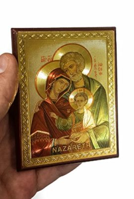 The-Holy-Family-Russian-Wood-Jesus-Icon-Plaque-Blessed-Jerusalem-Souvenir-37-0