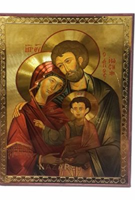 The-Holy-Family-Russian-Wood-Jesus-Icon-Plaque-Blessed-Jerusalem-Souvenir-75-0