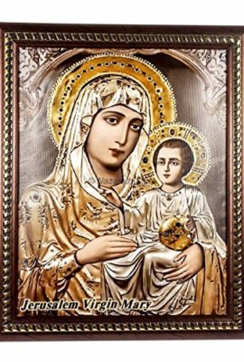 Virgin-Mary-Jerusalem-Baby-Jesus-Plaque-Padded-Wall-Hanging-Art-Picture-114-0