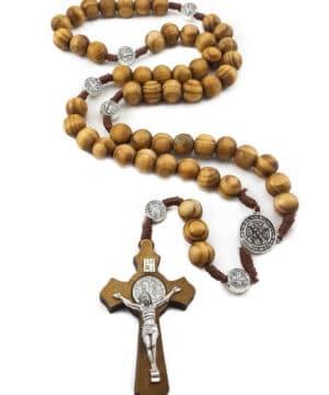 Saint Benedict Olive Wood Rosary