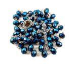 Deep Blue Crystal Beads Rosary