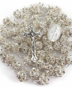 Clear Zircon Beads Rosary