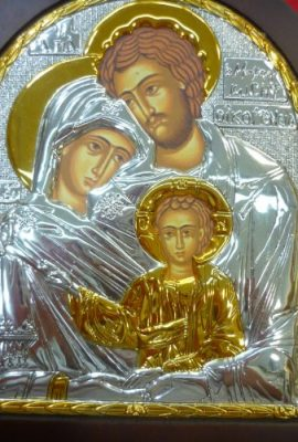 Amazing-Holy-Family-Icon-122-Sterling-Silver-925-with-9k-Gold-From-Holy-Land-0-0
