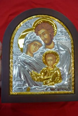 Amazing-Holy-Family-Icon-122-Sterling-Silver-925-with-9k-Gold-From-Holy-Land-0-1