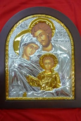 Amazing-Holy-Family-Icon-122-Sterling-Silver-925-with-9k-Gold-From-Holy-Land-0
