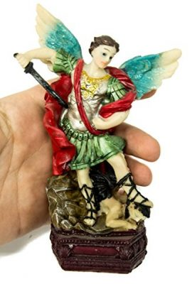 Archangel-St-Michael-Figure-Hand-Painted-Resin-Statue-From-Holy-Land-63-0-1
