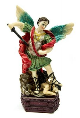 Archangel-St-Michael-Figure-Hand-Painted-Resin-Statue-From-Holy-Land-63-0