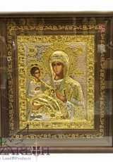 Baby-Jesus-with-Holy-Mary-Sterling-Silver-999-Icon-with-24k-Gold-Handmade-138-0