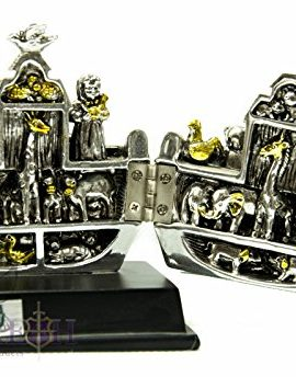 Beautiful-Big-71-Noahs-Ark-Open-Statue-Silver-Plated-From-Jerusalem-Holy-Land-0-0