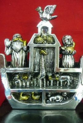 Beautiful-Big-71-Noahs-Ark-Open-Statue-Silver-Plated-From-Jerusalem-Holy-Land-0-1