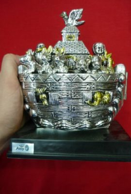 Beautiful-Big-71-Noahs-Ark-Open-Statue-Silver-Plated-From-Jerusalem-Holy-Land-0-3