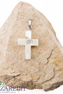 Beautiful-Cross-Mother-of-Pearl-with-Zircon-Crystal-Handmade-From-Holy-Land-0-0
