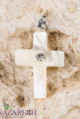 Beautiful-Cross-Mother-of-Pearl-with-Zircon-Crystal-Handmade-From-Holy-Land-0