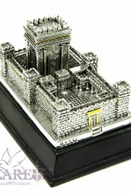 Beautiful-Second-Temple-Jerusalem-Statue-Silver-Plated-925-Replica-Judaica-59-0