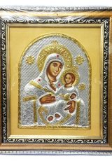 Beautiful-VIRGIN-MARY-and-Baby-JESUS-Acrylic-Silver-Gold-Icon-from-JERUSALEM-9-0