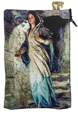 Blessed-Virgin-Mary-Rosary-Icon-Pouch-Tapestry-Prayer-Keepsake-Case-57-0