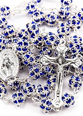 Blue-Zircon-Crystals-Beads-Rosary-Catholic-Necklace-Miraculous-Medal-Crucifix-0-0