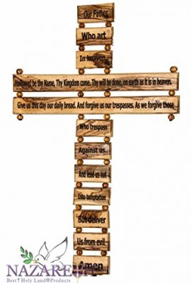 Carved-Olive-Wood-Cross-Our-Father-in-Heaven-Prayer-18-Hanging-Nuestro-Padre-0-0