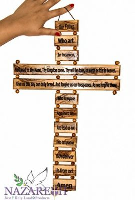 Carved-Olive-Wood-Cross-Our-Father-in-Heaven-Prayer-18-Hanging-Nuestro-Padre-0