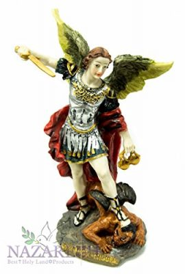 Catholic-Archangel-St-Michael-Resin-Statue-Handmade-Figurine-Jerusalem-93-0