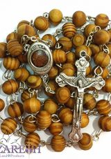 Catholic-Prayer-Rosary-Olive-Wood-Beads-Necklace-Holy-Soil-Medal-Metal-Cross-0