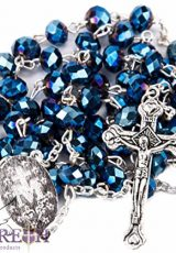 Deep-Blue-Sapphire-Crystal-Beads-Rosary-Necklace-Miraculous-Medal-Silver-Plated-0