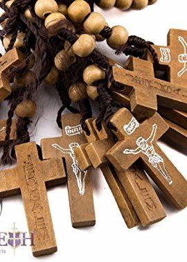 Dozen-12pcs-Authentic-Wooden-Beads-Jesus-Rosaries-Handmade-Nazareth-Holy-Land-0-0