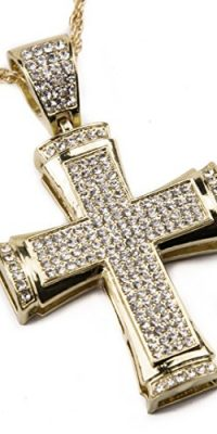 Gold-Plated-Cross-Pendant-Chain-Necklace-with-Zircon-Crystals-Jerusalem-Fashion-0-0
