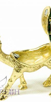 Golden-Camel-Bejeweled-Zircon-Crystals-Pearl-Enamel-Trinket-Box-Figurine-35-0-0