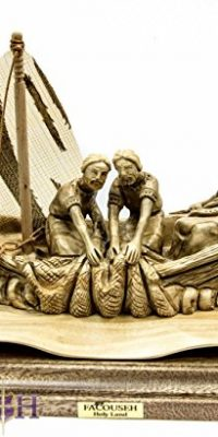 Hand-Carved-Olive-Wood-Jesus-in-the-Boat-Sculpture-106-Statue-From-Holy-Land-0