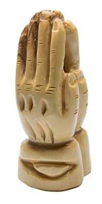 Hand-Carved-Olive-Wood-Praying-Hands-Statue-Sculpture-From-Holy-Land-39-0